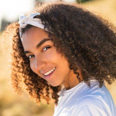 Beautiful Mixed Race African American Girl Teenager